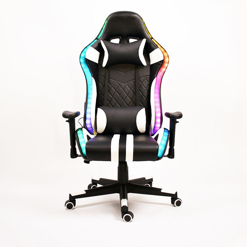 Hot selling chair bluetooth speakers Led RGB light high back ergonomic racing gaming chair computer chair gaming