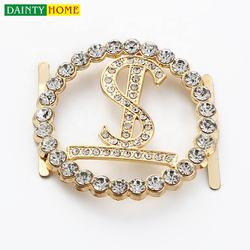 girls diamond shiny decorative ladies buckle elegant circle