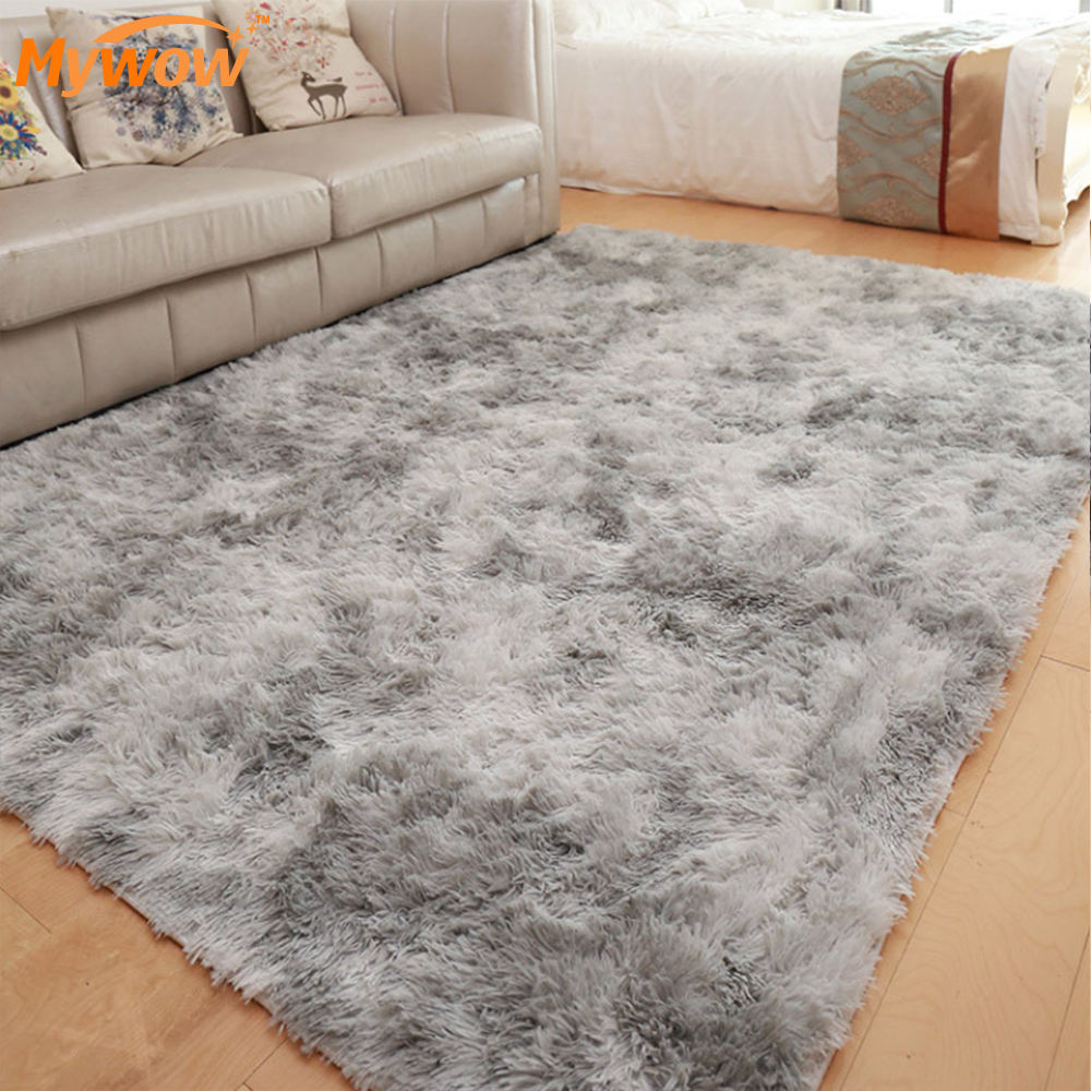 Home Use Bedroom Bedside Anti-slip Hand Knotted Soft Shaggy Area Rug