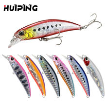Lures Fishing Wholesale 60mm 6.5g Minnow Lure Hard Artificial Bait Sinking Saltwater 60S Pesca Fishing Tackle