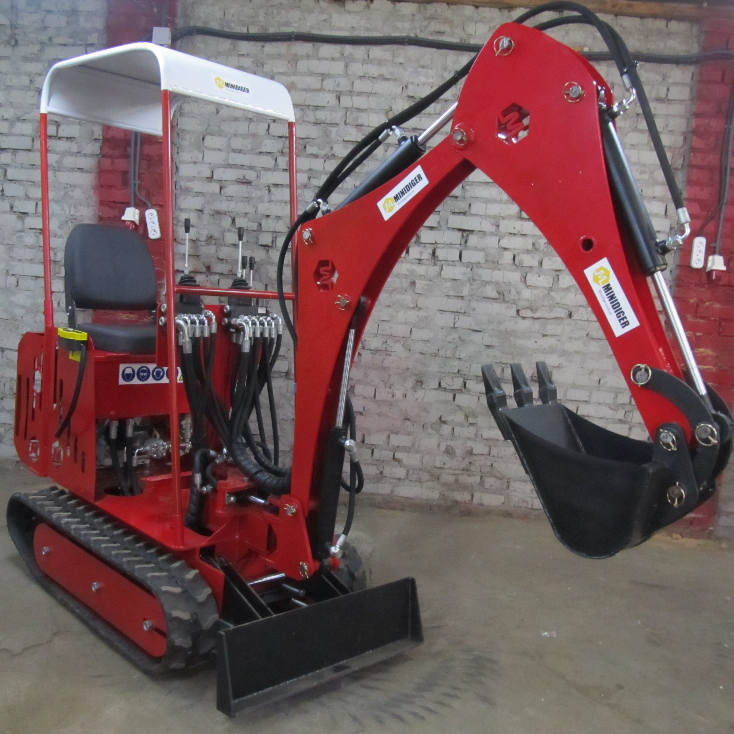 mini excavator MD-3 TM Minidiger Small excavator with huge capabilities