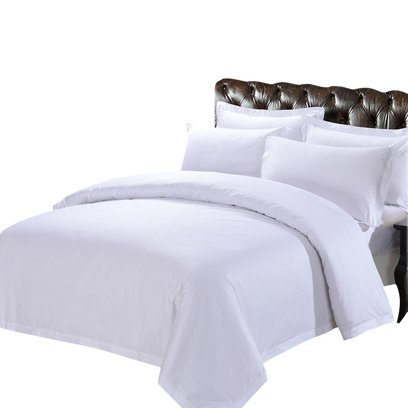 white satin comforter 100% cotton commercial bed linen for hotel 330TC 60X60S