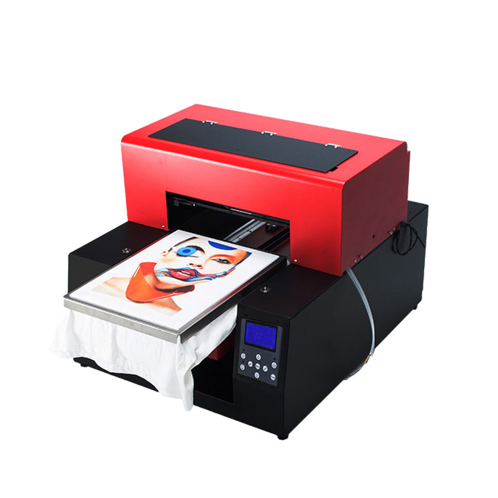 Automatic A3 6 color DTG t-shirt printer for white T-shirt printing