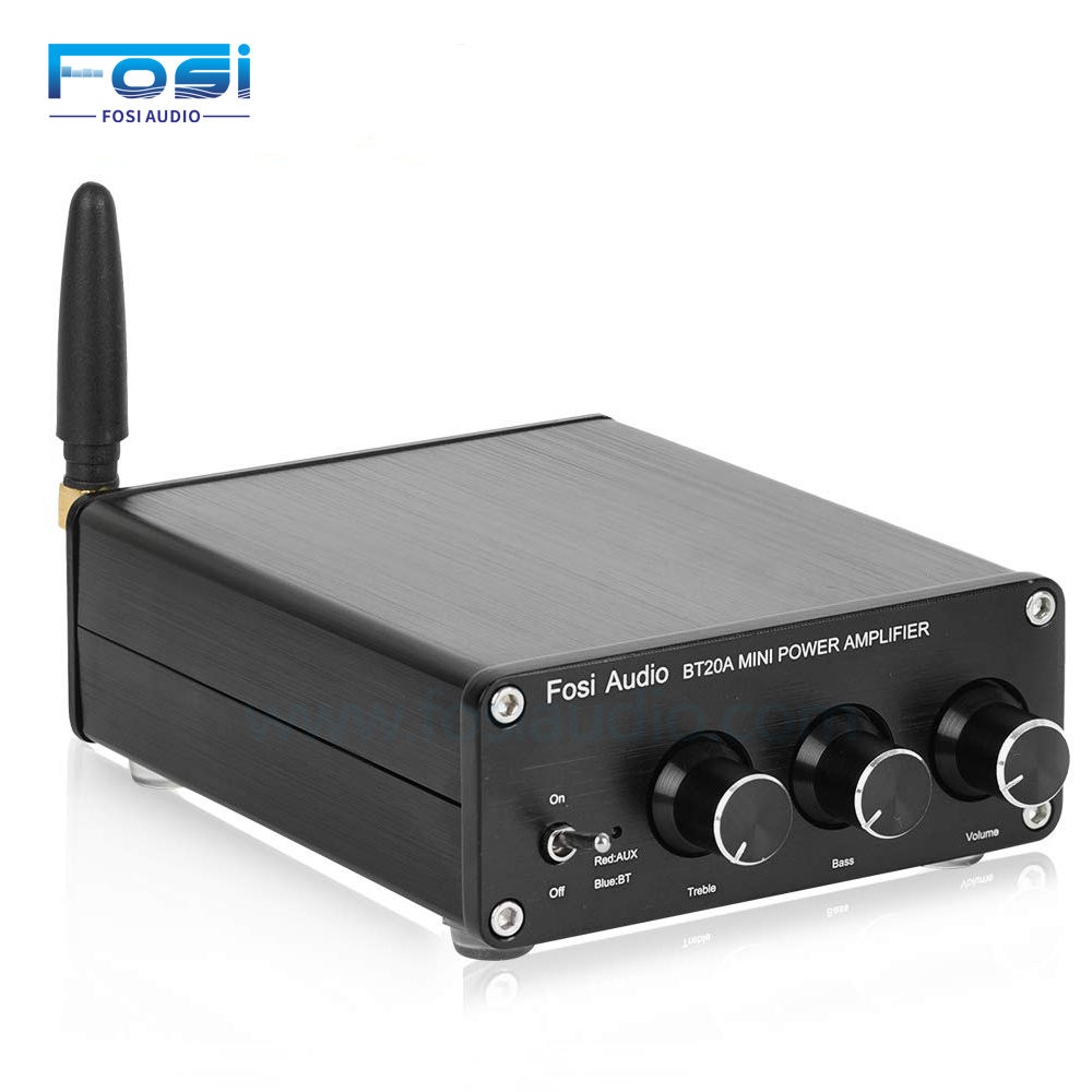 Best Seller 100W x 2 2 Channel Bluetooth 4.2 Stereo Audio Mini Power Amplifier BT20A