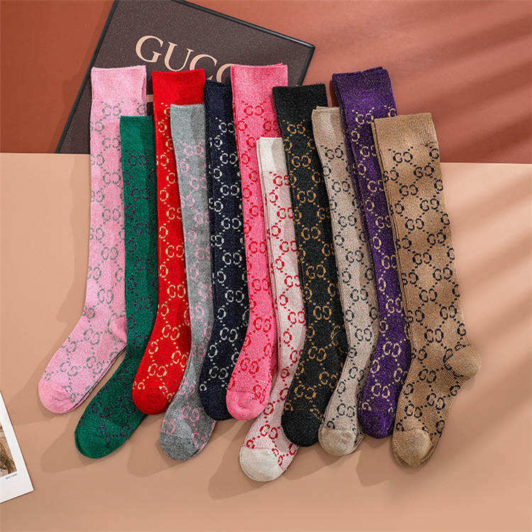 Wholesale Luxury Fashion Designed gg Socks Women Knee High Socks For Women