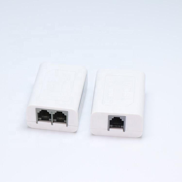 Free Sample VDSL Splitter 8P8CConnector With Line For Telephone