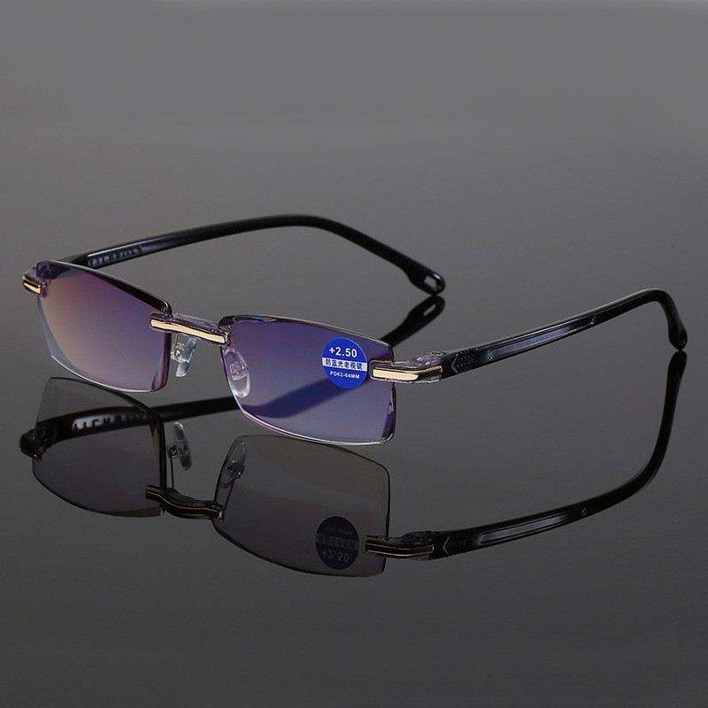 2020新Anti Blue Light Blocking Rimless Reading Glasses Women Men Square Frameless Presbyopic Glasses Diopters + 1.0 1.5 2 2.5