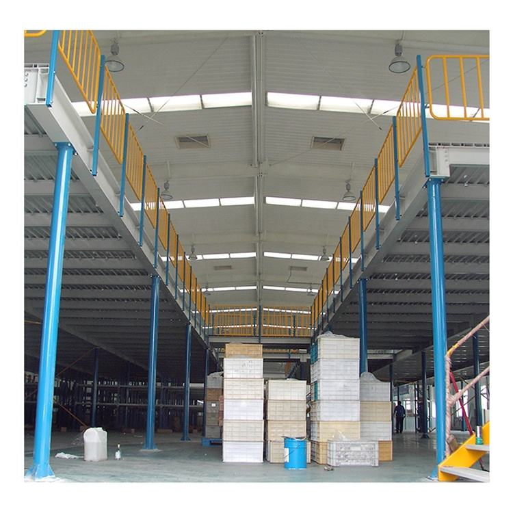 Mezzanine Storage Systems Integrated Stationary Warehouse Storage Racking System Mezzanine Platform With Steel Stair
