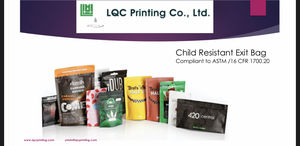 Custom Print Resealable Packaging Smell Proof Child resistant exit mylar packaging zip Bags
