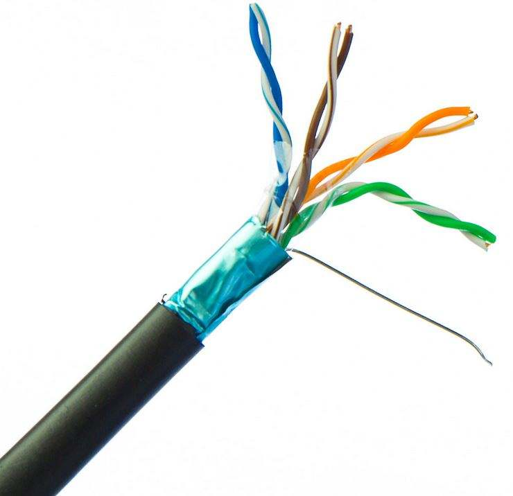 8 Number of Conductors and PVC Jacket ETL Listed LAN cable CAT5E UTP/FTP/SFTP
