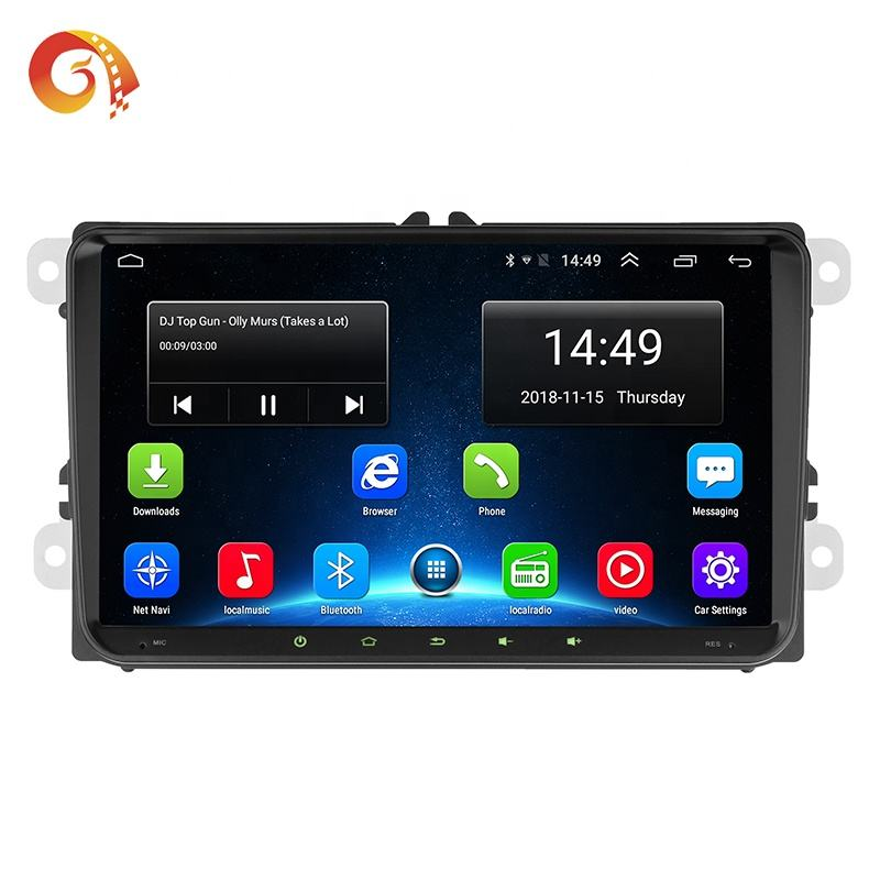 7 9 10 Inch Android 1024*600 Hd 1080P Full Touch Screen <span class=keywords><strong>Bluetooth</strong></span> Spiegel 2din Stereo Auto Radio systeem Dvd-speler Voor Vw