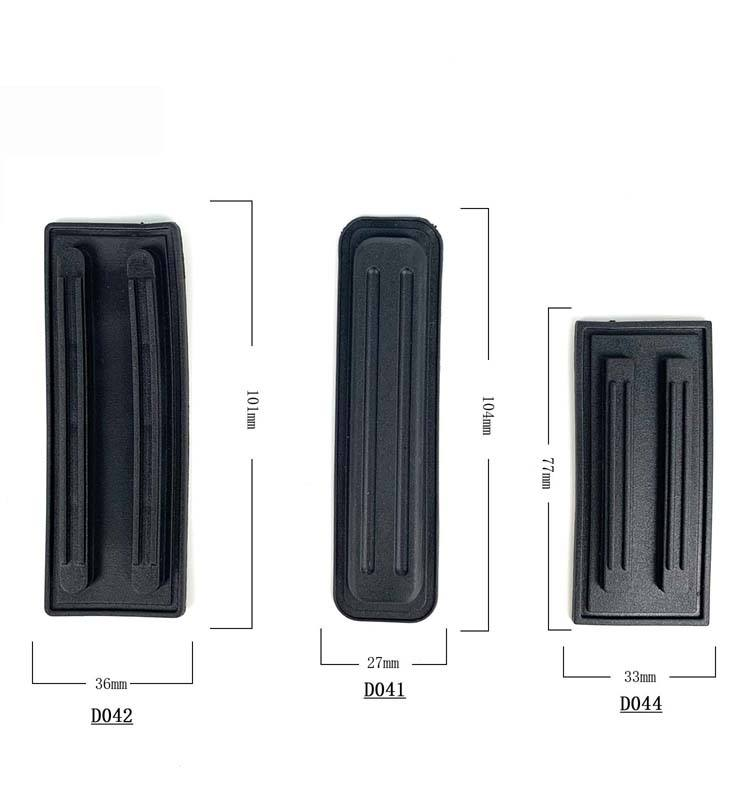 Plastic pp bottom feet care pad camera bag luggage base protector bottom protection pad for sale