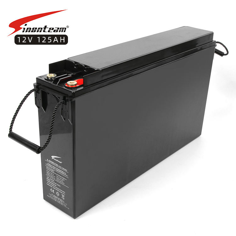 Telecom system rechargeable deep cycle 12 volt gel storage battery 12v 125ah front access terminal gel battery
