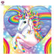 LUOVIZEM DYL-002 Cartoon Unicorn Full Drill Pictures By Numbers Animal Diamond Painting 40*40CM