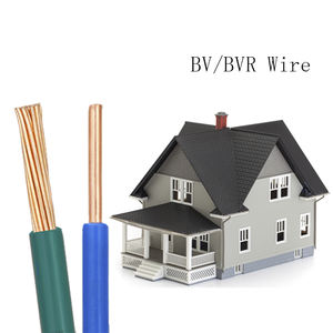 non-sheathed house wiring cable price list bv bvvb electrical wire and cable 1.5sq 0.75 mm2 bvr electrical cable insulated wire