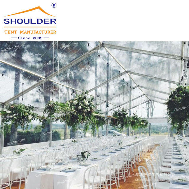 1000 People clear roof wedding tent for luxury wedding party event