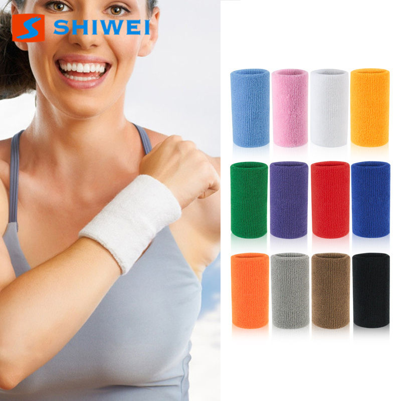 Custom LOGO Colorful Sports Wrist Sweatbands Wrist Sweat Band