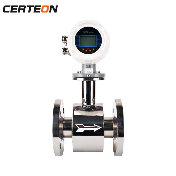 MODBUS communication tri clamp sanitary instrument liquid flow meter Electromagnetic flowmeter for hot cold water