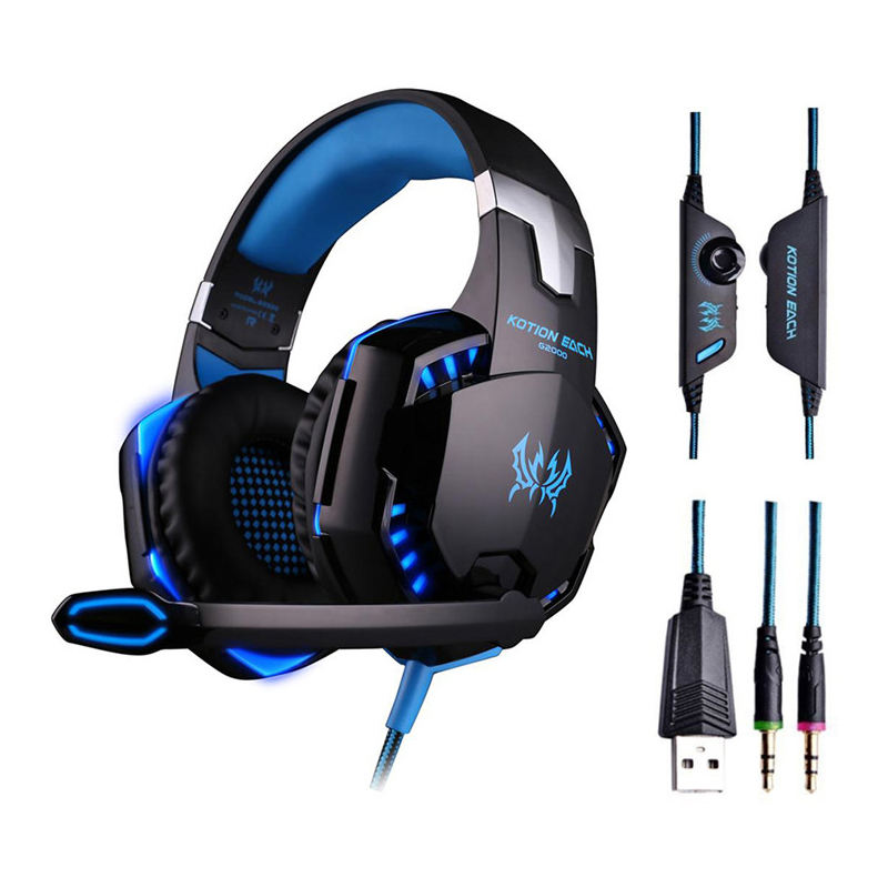 High Quality G2000 Gaming Headset 3.5mm RGB Stereo Headset Gaming Professional for ps4 Xbox one razer gaming headset
