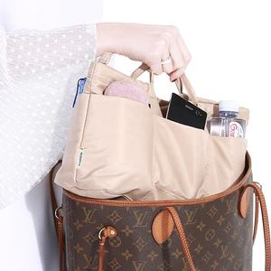 Promotion high quality luxury inner bag compact cosmetic travel tote bag in bag organzie for LV Speedy