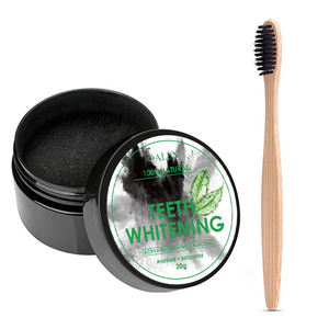 Hot Sale Bamboo Toothbrush and Activated Charcoal Teeth Whitening Powder Kit