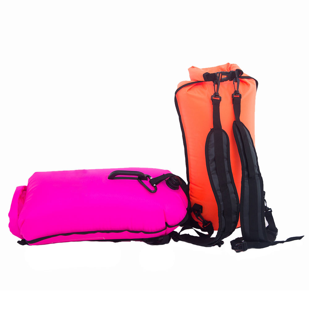 Inflatable Buckled Storage Sack Swim Buoy Backpack Dry Bag Float Diving Surfing Swimming Drifting Bags