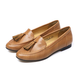 fashion classic natural comfort genuine leather loafers women flat shoes