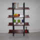 5 tier bookcase industrial book shelf wood and metal bookshelf furniture