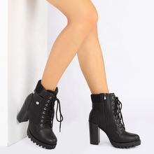 Women's Fashion Ankle Boots, Custom Ladies Chunky High Heel Booties