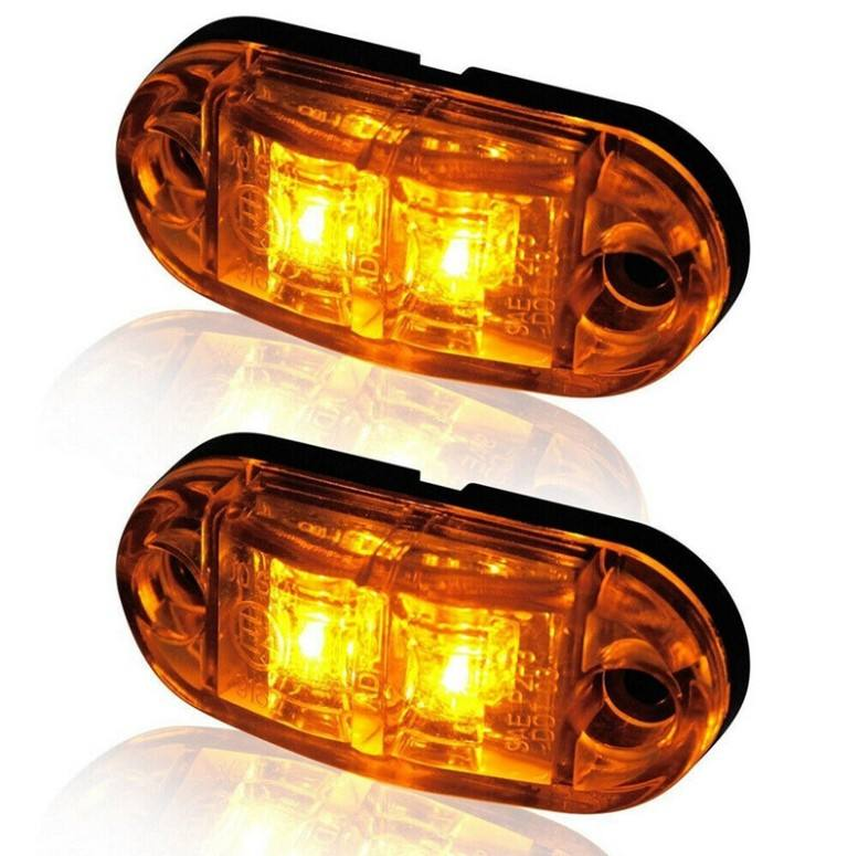 12-24V amber led side marker lights for trucks side clearance marker light clearance lamp 12V Red White for Trailer