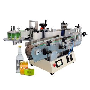 factory price mini automatic desktop label sticking machine for round bottle cans jar