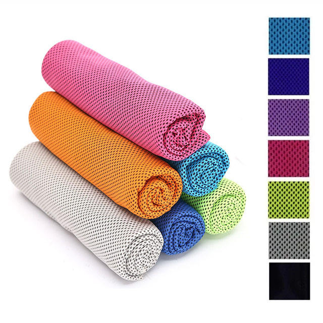 Customized microfiber sports cold towel Magic sports travel outdoor ice cooling cold towel