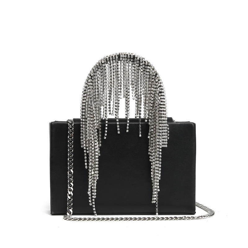 diamonds handle tassel handbag events dress tas pesta luxury bag
