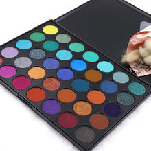 High quality Custom your private brand Makeup Eyeshadow powder palette 35 color Multi-Color Cosmetic Eye shad