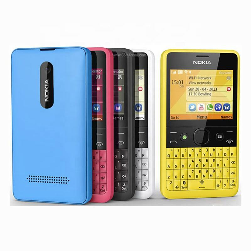 "Per <span class=keywords><strong>Nokia</strong></span> Asha 210 Telefono Sbloccato GSM 2.4 ""Dual SIM 2MP Tastiera QWERTY Del Telefono Cellulare"