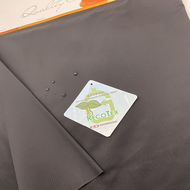 50% Recycled polyester 210T taffeta RPET Microfiber fabric