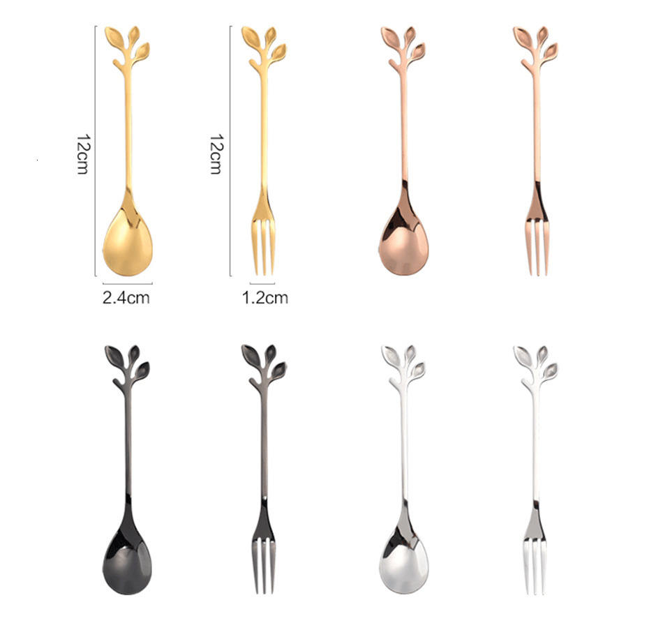 Leaf Metal Coffee Spoon For Wholesale