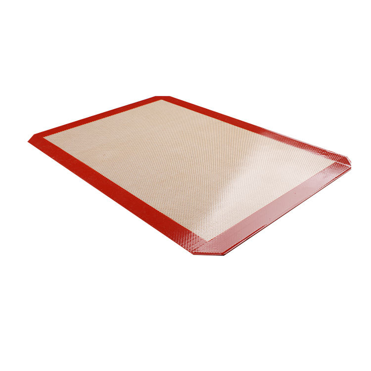 MFP 30cm 40cm 0.7mm Red Resauble Easy Clean Non Stick Oven Liner Silicone Mat Baking Mat
