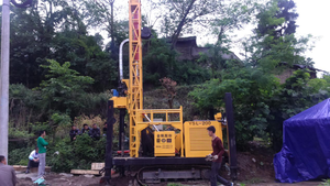 Small model crawler water well drilling rigs machine for sale