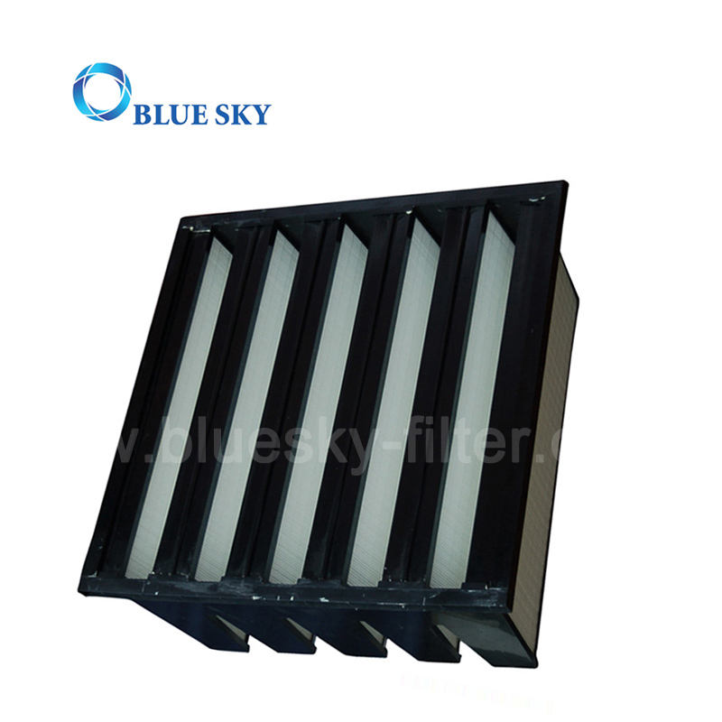 Hepa Filter Manufacturer High Efficiency V-bank Shape HVAC System Hepa Air Filter