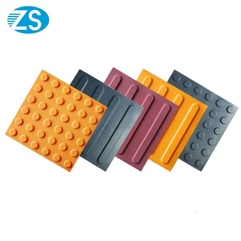Durable tactile tile rubber wholesale brick for the blind