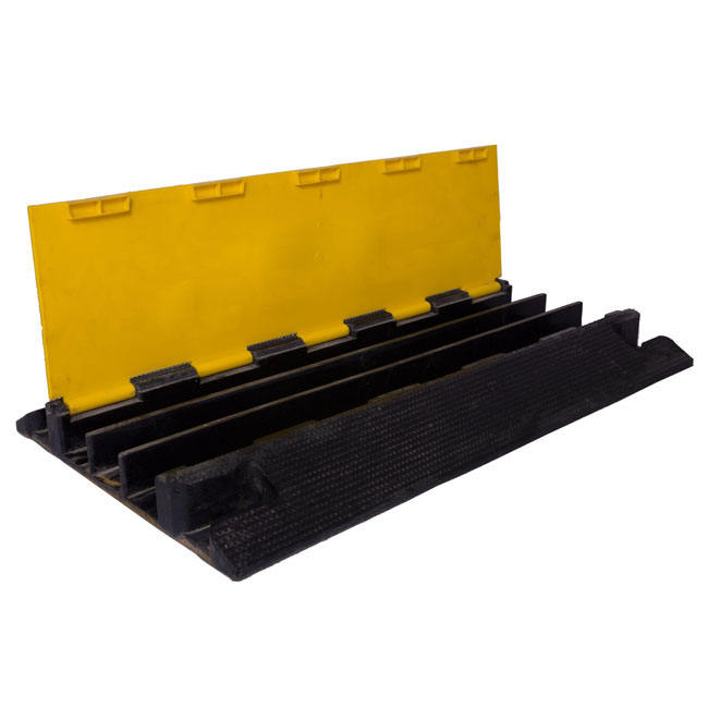 Rubber 4 channel cable ramp,cable protector,cable bridge