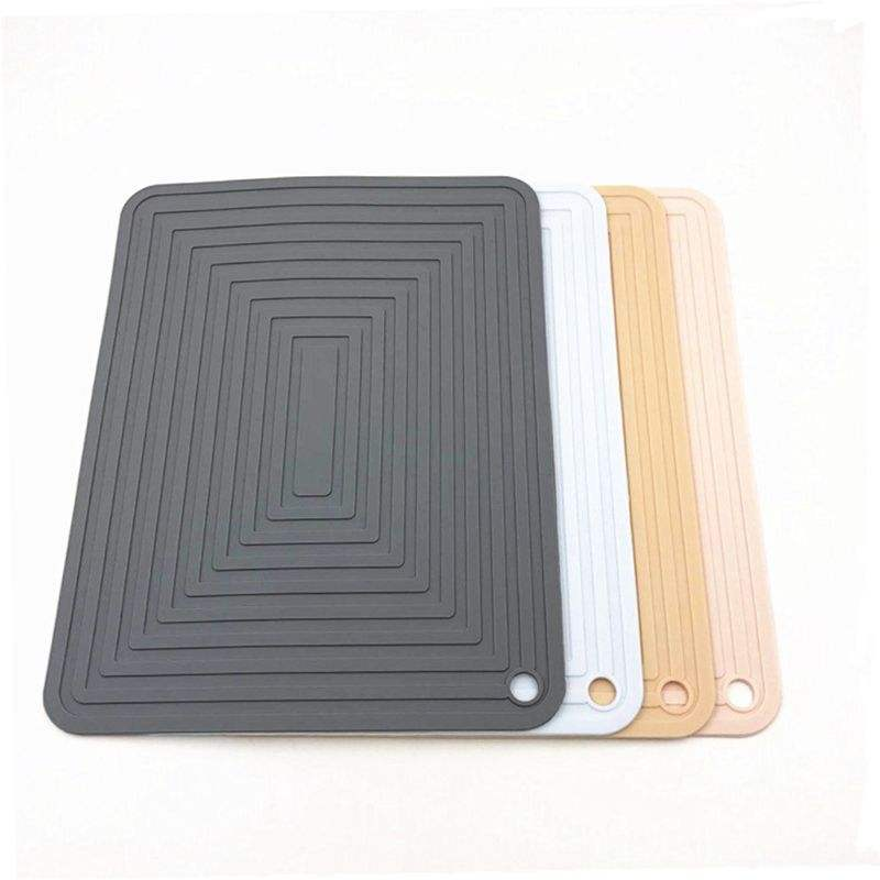 Heat Resistant Silicone Insulation Mat Drain Mat Flume Folding Draining Mat Non-slip Placemat for Kitchen Tools Accessories