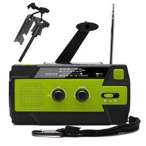 Dínamo manivela noaa weather radio md-090p tocha movido a energia solar com 4000 mah banco de potência e carregador do telefone móvel