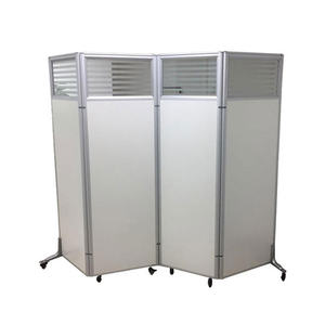 Trade Show Booth Partition Wall Movable Freestanding Screens Room Divider Aluminum Frame Decorative