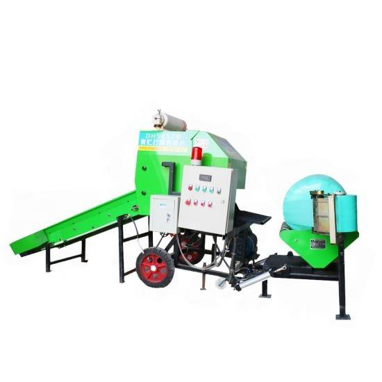 Automatic Mini Stretch Film Hay Wheat Straw Silage Bundle Bale Wrapping Machine/Grass Baler Machine for sale