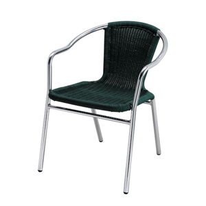 Outdoor aluminum furniture high quality cane chairs stacking