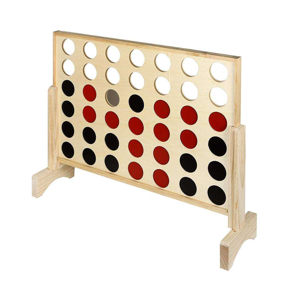 4 in a row for kids Giant Wooden Connect 4 educational toy