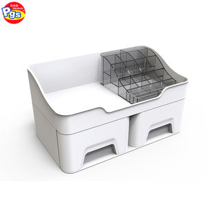 Plastic luggage cabinet makeup organizer box cosmetic basket closet organizer systems