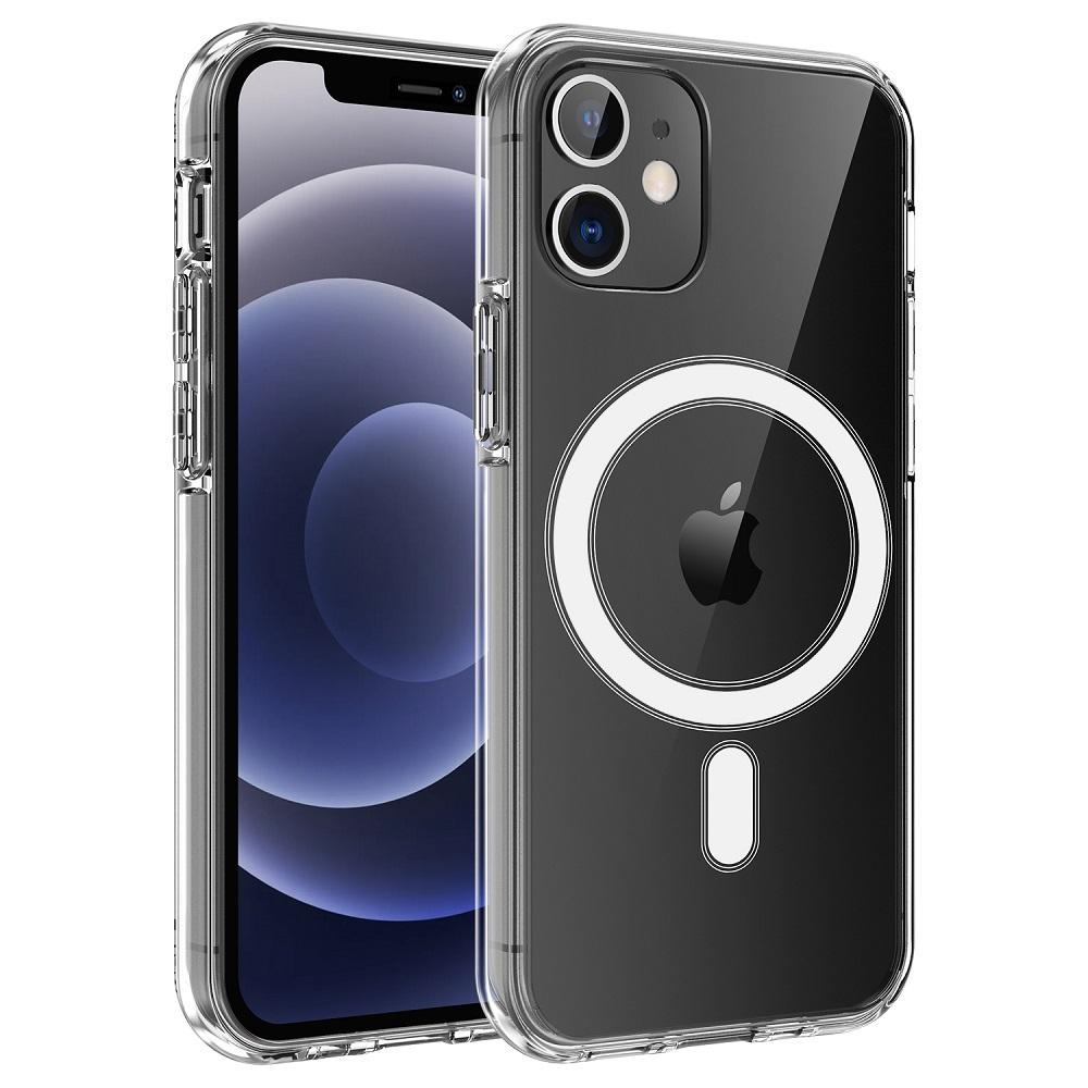 Simple Hybrid TPU Clear PC Smart Phone Built-in Magnetic Circle Phone Case For Magsafing Apple iPhone 12 5.4 6.1 6.7